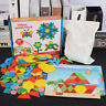 AM_ 250Pcs Wooden Tangram Puzzle Jigsaw Montessori Kids Educational Funny Toy Gi