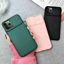 Silicone Protective Phone Case Lens Slide Cover For iPhone 11/11 Pro/11 Pro Max