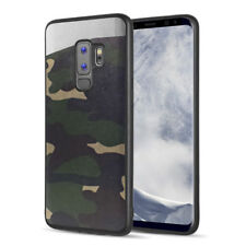 SAMSUNG GALAXY S9 PLUS G965 GREEN CAMOUFLAGE MERCER MAGNETIC BACK CASE COVER
