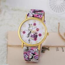 Fashion Women Watch Leather Floral Quartz Analog Wrist Watch Dress Watch