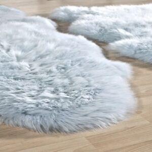 "Origins Merino Australian Wool Sheepskin Rug Duck Egg Single 36 X 24"" approx New"