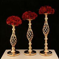 Kerzenständer Hochzeit Blumenvase Kerzenleuchter Blumenständer Silber oder Gold