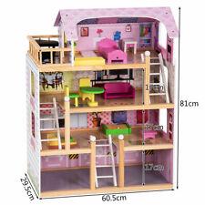 Casa delle Bambole in Legno, Giocattolo dei Bambini con Accessori