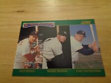 Musial Mantle Yaz 1992 Score The Franchsie Baseball Card NM/M NY Yankees Red Sox