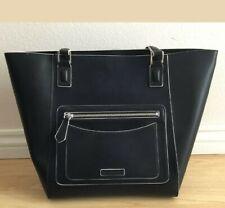 Vera Bradley NWT Small Ella Tote Northbrook Collection Black Faux Leather
