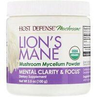 Lion's Mane, Mushroom Mycelium Powder, Mental Clarity & Focus, 100g