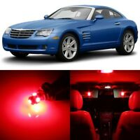 8 x RED Interior LED Lights Package For 2004 - 2008 Chrysler Crossfire +TOOL