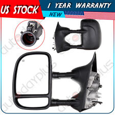 Power Heated Tow Side View Towing Mirrors for 99-07 Ford Super Duty Truck Pair