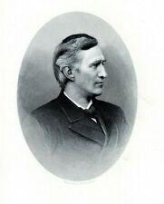 Senator THOMAS BAYARD DELAWARE History 1880s Portrait Steel Engraving Print