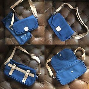 BRAND NEW BLUE LACOSTE BAG SHOULDER CROSSBODY BAG PURSE POCKETBOOK CANVAS