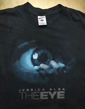 Mens XL 2008 Movie The Eye Jessica Alba Supernatural Horror Black T-Shirt EUC