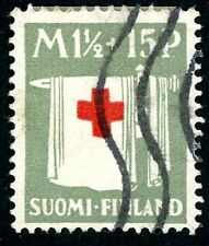 FINLAND 1922-1930s USED B1, B3, B5-B7, B10 RED CROSS LOT OF 6 SEMI-POSTAL STAMPS