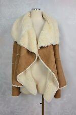 B Hip by Me Jane Long Sleeve Faux Shearling Draped Coat Size XL    NWT