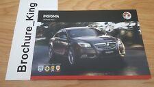 Vauxhall Insignia 2012 Models Edition 1 Brochure ES Exclusiv SRi Line SE Elite