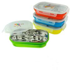 Portable Stainless Steel Insulated Thermal Lunch Box Case Bento Food Container