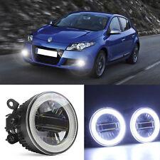 3in1 Superb LED COB Angel Eyes+DRLs+Projector Lens Foglights For Renault Megane