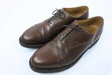 Polo Ralph Lauren Crockett Jones 11.5D Chestnut Brown Cap Toe Oxford Dress Shoes