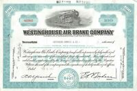 Westinghouse Air Brake Company 100 Share Common Stock Certificate Railroad