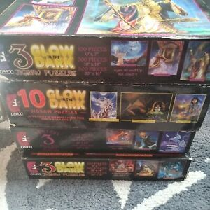 15 Ceaco Fantasy Puzzles Partial Box Unopened & Opened Bags Glow In The Dark