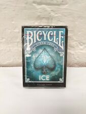 2x Bicycle Ice Playing Cards Standard Poker Glacial USPCC 1 Deck Black Blue USA