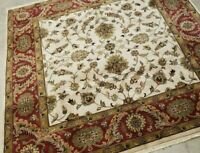 9'X9' SQUIRE HAND-KNOTTED TURKISH OUSHAK  PESHAWAR VINTAGE  WOOL ALLOVER RUG
