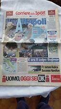 Corriere dello Sport - Ritorno Napoli in Serie A - Quotidiano del 11 Giugno 2007
