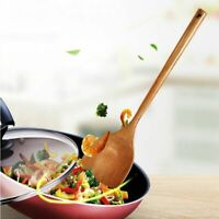 Long Wooden Cooking Rice Spatula Scoop Kitchen Utensil Non-stick Hand Wok Shovel