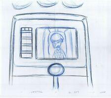 Simpsons Burns Original Art Animation Production Pencils Habf02 Sc-307 Comp