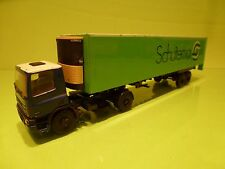 LION CAR 36 DAF 75 300 ATI TRUCK + TRAILER - SCHUITEMA - BLUE GREEN 1:50 -PROMO