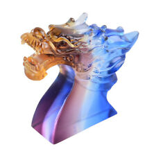 Liuli Mulitclor Crystal Dragon Statue Paperweights Unique Collectible Charm Gift