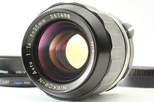 [Rare! Opt MINT w/ Hood] Nikon Nikkor N Auto 35mm f1.4 Non Ai Wide MF Lens JAPAN