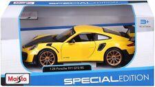 MAISTO DIE CAST METAL PORSCHE 911 GT2 RS 1:24 MODEL CAR - 31523 REPLICA CAR