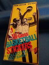 1976 FLEER BASKETBALL - HI GLOSS STICKERS BOX (24) PACKS ! RARE ! LQQK