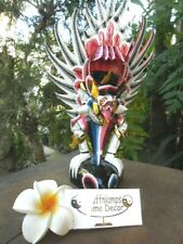 Bali Garuda wood carving -  Hand Crafted white/coloured tones