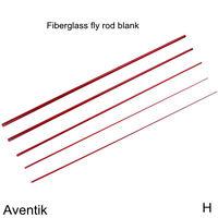 Aventik Fiberglass Fly Rod Blanks 6'7'' LW3, 7'8'' LW4, 8'1'' LW5, Two Tips