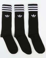 adidas Originals 3 Pack Crew Socks in Black - cotton, trefoil one size UK 7 - 11