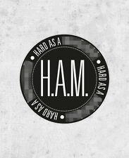 "Kanye West Jay Z Sticker! ""HAM"" Watch the throne, yeezus, hard as a, laptop rap"