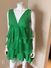 Alice & Olivia Green Tiered Cocktail Party Dress Size S