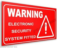 Alarm Sticker -STICK-ON ELECTRONIC SECURITY WARNING LABEL - Intruder Deterrent