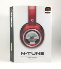 Monster N-Tune Headphones On-Ear Noise Isolating Candy Apple Red Talk Mic NEW