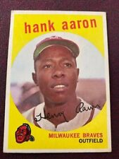 HANK AARON 1959 Topps #380 Milwaukee Braves HOF