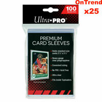 Ultra PRO Platinum Premium Card Soft Sleeves Clear Protector 25 x Packs of 100