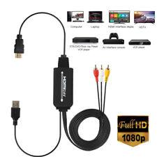 HDMI RCA cable macho 3RCA/AV convertidor adaptador HDMI a analógico AV CVB nuevo