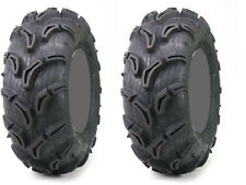 Pair 2 Maxxis Zilla 25x11-9 ATV Tire Set 25x11x9 25-11-9