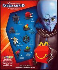 * MIP 2010 McDonalds Megamind Mint Set - Lot of 8
