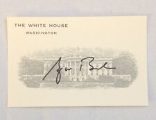 SIGNED GEORGE BUSH WHITE HOUSE ISSUED BUSINESS CARD GW SIGNATURE AUTOPEN