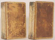 1826 AVENTURAS DE GIL BLAS DE SANTILLANA 4 Vols in 2 Leather Spanish Espanol