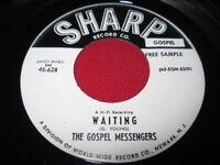 THE GOSPEL MESSENGERS 45 - WAITING - SHARP BLACK GOSPEL