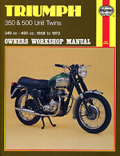 HAYNES 0137 MOTORCYCLE SERVICE REPAIR OWNER MANUAL TRIUMPH 350 500 TWINS 58 - 73