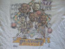 Vintage NBA UTAH JAZZ 1992 Karl Malone Caricature John Stockton T shirt XL